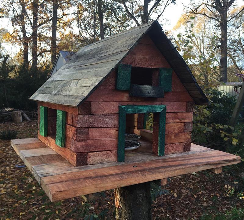 Vogelhaus aus Paletten