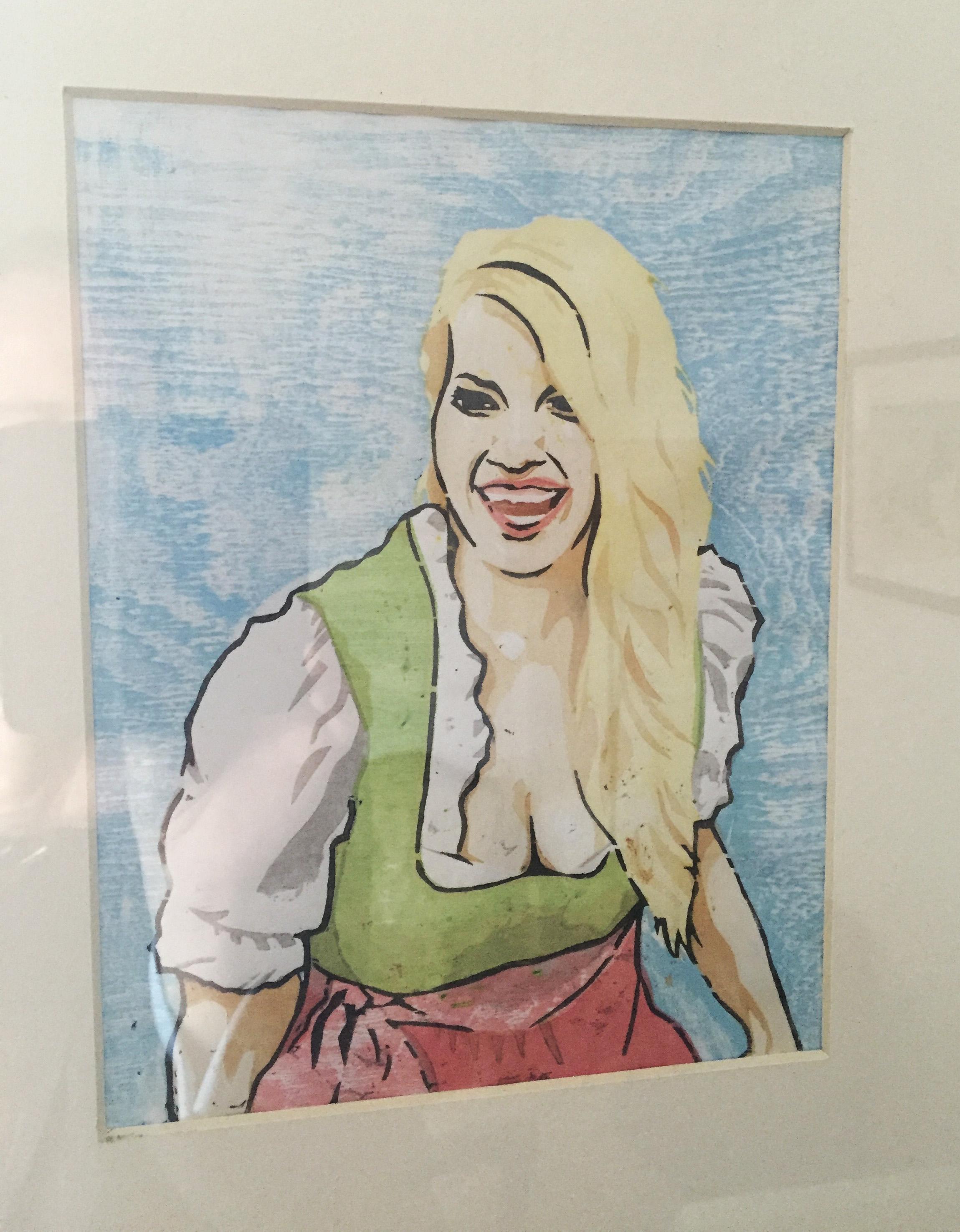 Bavarian Beauties Moku Hanga Farbholzschnitt