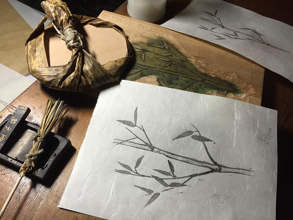 Holzschnitt Moku Hanga