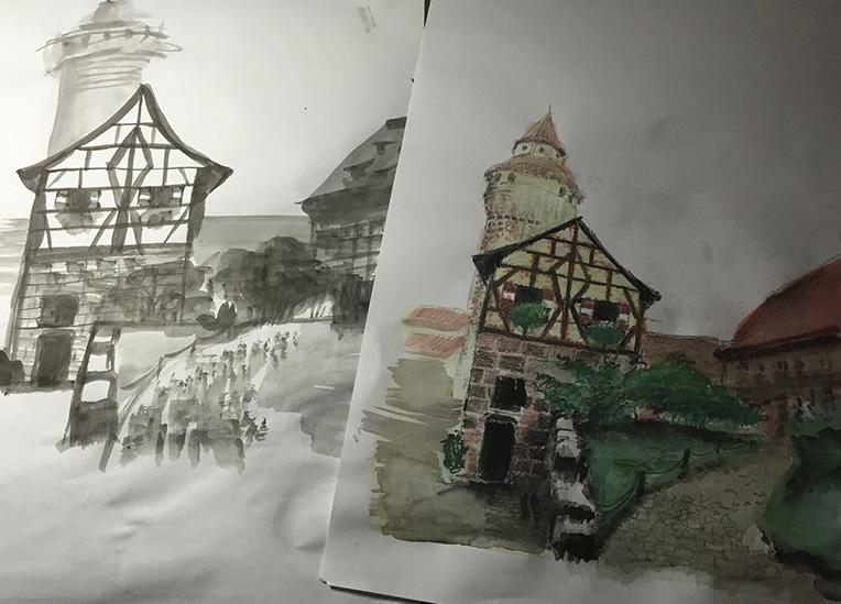 Burg Nürnberg Skizzen