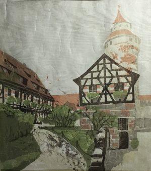 Burg Nürnberg Farbholzschnitt