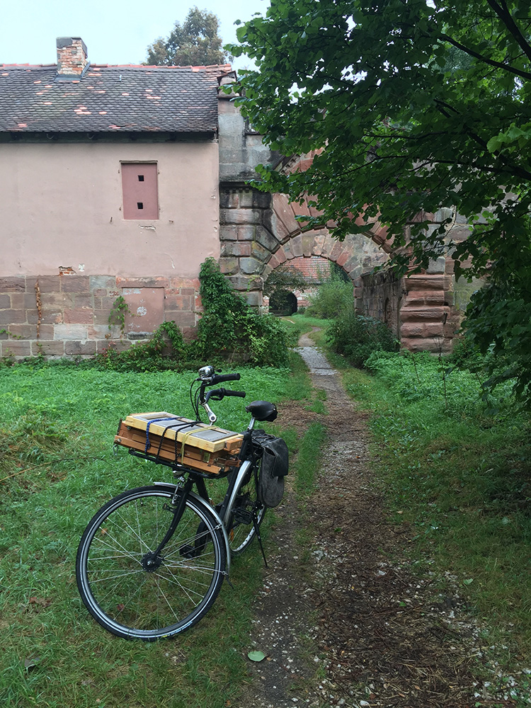 Schloss Oberbürg Lauf am Holz Plein-Air Ölgemälde