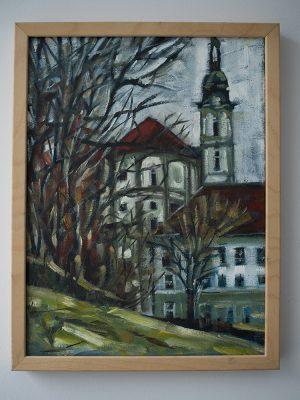 Kloster Fürstenfeld Öl auf Leinwand 30cm x 40 cm