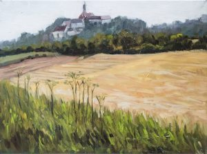 Kloster Andechs Öl auf Leinwand 30 cm x 40 cm
